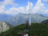 Via Normale Monte Piombada - In vetta al Monte Piombada