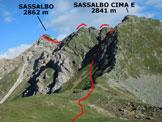 Via Normale Sassalbo - L'itinerario da SE, dal Passo Rovano