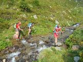Via Normale Monte Paglietta - attraversamento del fiume alla (q. 2090 m) circa