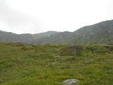 Via Normale Monte Paglietta - a destra il canalino da risalire