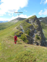 Via Normale Punta Chaligne / Pointe Chaligne - Lungo la cresta di discesa e, sullo sfondo, la Pointe Chaligne