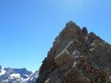 Via Normale Punta Gerlach / Pointe Gerlach - ultimi passi esposti di arrampicata prima della cima