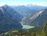 Via Normale Monte Fertazza - Il lago di Alleghe dalla cima