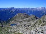 Via Normale Rauchkofel/Monte Fumo  - Cresta di  Pojen verso ovest con lago Schreiensee