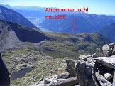 Via Normale Rauchkofel/Monte Fumo  - Ahornacherjochl con vista verso sud