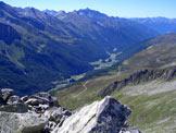 Via Normale Punta Val di Frane/Schuttalkopf - Vista sulla Valle Aurina