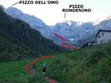 Via Normale Pizzo del Diavolo di Tenda - da Ambria - Immagine ripresa alle Baite Dossello