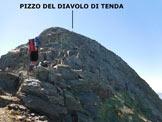 Via Normale Pizzo del Diavolo di Tenda - da Ambria - La cresta finale rivolta a N