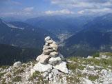 Via Normale Monte Flop - Panorama dalla cima del Flop Est