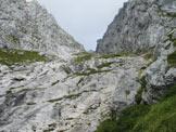 Via Normale Veliki Baba (Baba Grande) - Penorama del pendio verso Forc. Infrababa