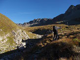 Via Normale Piz Platta - Nuova via normale - Conca di Buell con indicazione per Bodenseen