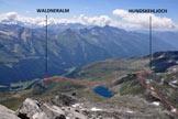 Via Normale Rauchkofel/Monte Fumo di Predoi - Itinerario di salita visto dalla cresta sud