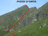 Via Normale Pizzo d'Orta - In salita