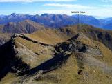 Via Normale Cima Hoabonti - Dorsale di discesa verso il Monte Cola