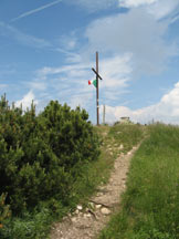 Via Normale Cima Marzola Sud - Croce di vetta