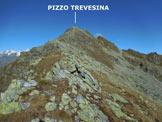 Via Normale Pizzo Trevesina (o Piz Trevisina) - Sulla cresta SE del Pizzo Trevesina