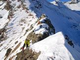 Via Normale Monte Seroti - Lungo la cresta del Seroti