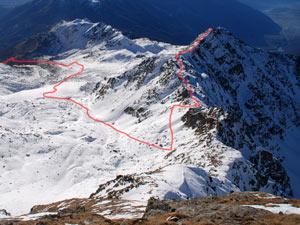 Via Normale Monte Varadega - Cresta NE
