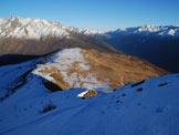 Via Normale Monte Pagano - Cresta NE - Il tratto ripido ed il Pianaccio sullo sfondo