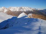 Via Normale Monte Pagano - Cresta NE - Sguardo indietro, sull´ultimo tratto di cresta
