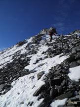 Via Normale Cima del Chiodo - Cresta Nord - Verso la cima