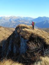 Via Normale Pizzo Grande - In vetta alla cima minore del Sornadello