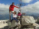 Via Normale Piz Boè dalla Val Lasties - In vetta