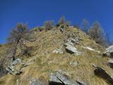 Via Normale Cima della Paglia - Un breve tratto un po' ripido della cresta ESE