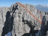 Via Normale Cima Baione - Canale Ovest - La rampa per la cima