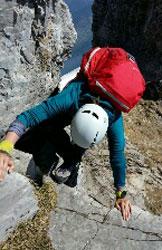 Via Normale Monte Secco Seriano - Passaggio su roccia