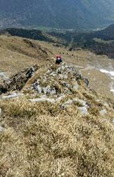 Via Normale Monte Secco Seriano - Tratto di salita