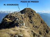 Via Normale Pizzo di Presio - ver. W e cresta S - Sulla cresta S