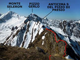 Via Normale Pizzo di Presio - ver. W e cresta S - Panorama di vetta, verso S