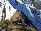 Via Normale Pizzo di Presio - ver. W e cresta S - In discesa, sulla cresta S