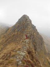 Via Normale Monte Barone (cresta SE) - Ultimo tratto di cresta per la Punta delle Camosce