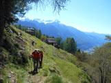Via Normale Pizzo Ricuca - Lungo il sentiero dopo l´Alpe Rogliei