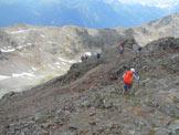 Via Normale Monte Masuccio (cresta SW) - All´inizio della discesa dalla cima