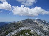 Via Normale Monte Cergnala (Hudi Vrsic) - Dalla vetta del Cergnala verso il Golovec e il Canin