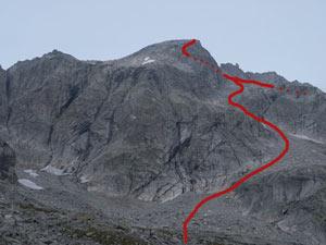 Via Normale Pizzo del Ferro Orientale (traversata Val del Ferro-Qualido)