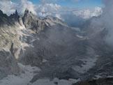 Via Normale Pizzo del Ferro Orientale (traversata Val del Ferro-Qualido) - Panorama sulla valle dell'Albigna e le Sciore
