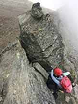 Via Normale Mittaghorn - Saas Fee - Passaggi su roccia