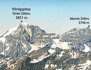 Via Normale Schildspitz - Punta dello Scudo