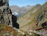 Via Normale Piz Malgina - Il percorso per raggiungere la Bocchetta Malgina