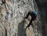 Via Normale Monte Spiz - Via Marisa - Tratto di arrampicata