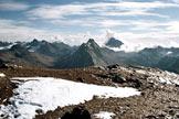 Via Normale Pischahorn - Panorama di vetta sul Gruppo del Silvretta