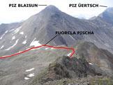 Via Normale Piz Pischa - Sulla cresta S, nel tratto medio/superiore