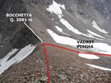 Via Normale Piz Pischa – Cresta NNE - In discesa, sulla facile cresta NNE