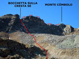Via Normale Monte Combolo - Versante E - Immagine ripresa dal Lagh dal Mat (q. 2523 m)