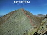 Via Normale Monte Combolo - Versante E - Immagine ripresa dall'anticima SE