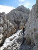 Via Normale Spiz d´Agnèr Sud - Canale di divisione tra Punta Frassenè e Spiz d´Agner Sud dopo il salto